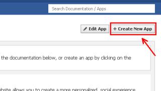 buat new aplikasi facebook